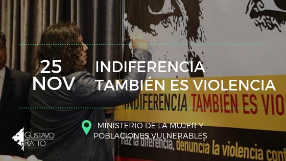 """""""Indiferencia también es violencia"""" Gustavo Ratto se suma a campaña"""